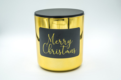 Gold Merry Christmas Soy Candle - Large