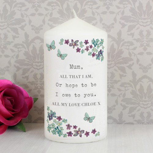 Forget me not Personalised Gifts Ceramic Waisted Vase Secret Garden