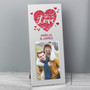 Personalised 'All You Need is Love' Confetti Hearts Photo Frame
