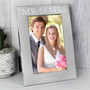 Personalised Mr & Mrs 6 x 4 Silver Photo Frame