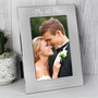 Personalised Mr & Mrs 6 x 4 Silver Photo Frames