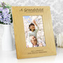 """Personalised """"A Grandchild Is A Blessing"""" Oak Finish Photo Frame"""