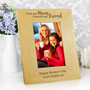 Personalised 'First My Mum, Forever My Friend' Oak Finish Photo Frame