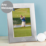 Personalised Golf Silver Photo Frame