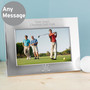 Personalised Golf Landscape Silver Photo Frame