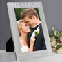 Personalised Mr & Mrs Silver Photo Frame