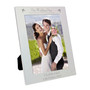 Personalised Silver Decorative Our Wedding Day Photo Frame
