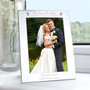 Personalised Silver Decorative Our Sons Wedding Photo Frame