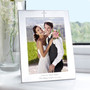 Personalised Silver 5 x 7 Cross Photo Frame