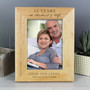 Personalised Anniversary 7 x 5 Wooden Photo Frame