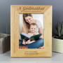 Personalised Godmother 7 x 5 Wooden Photo Frame