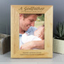Personalised Godfather 7 x 5 Wooden Photo Frame