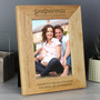 Personalised Godparents 7 x 5 Wooden Photo Frame