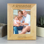 Personalised 'A Grandchild is a Blessing' 7 x 5 Wooden Photo Frame