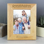 Personalised 'Grandchildren are a Blessing'  Wooden Photo Frame