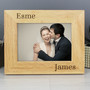 Personalised  Couples Landscape Wooden Photo Frame