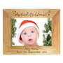 Personalised My First Christmas 7 x 5 Landscape Wooden Photo Frame