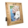 Personalised Paw Prints 7x5 Wooden Photo Frame