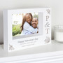 Personalised Couples Initials 7 x 5 Landscape Box Photo Frame