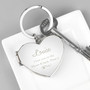 Personalised Swirl Heart Photo Frame Keyring