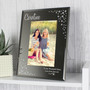 Personalised Swirls & Hearts Diamante 6 x 4 Glass Photo Frame