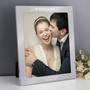 Personalised Our Wedding Day 10 x 8 Silver Photo Frame