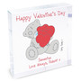 Personalised Me to You Big Heart Large Crystal Token
