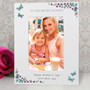 Personalised Forget Me Not 6 x 4 White Wooden Photo Frame