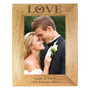Personalised Love 7 x 5 Wooden Photo Frame