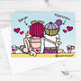 Personalised Bang On The Door Love On The Beach Card