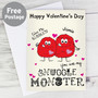 Personalised Snuggle Monster Card