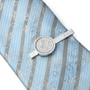 Personalised Silver Lucky Sixpence Tie Clip