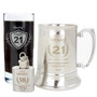 Personalised Age Crest Hip Flask Keyring