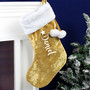 Personalised Name Only Luxury Gold Stocking