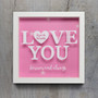 Personalised Box Frame - Love You Frame