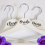 Wedding Party Hangers - Premium White