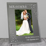 Personalised Diamante Mr and Mrs Frame