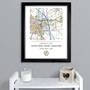 Personalised House Warming  Map Frame
