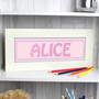 Personalised Pink Stitch Baby Name Frame