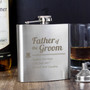 Father of the Groom Personalised Hip Flask