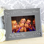 Personalised 21st Birthday Diamante Glass Photo Frame