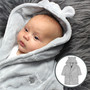 personalised baby dressing gown close-up