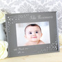 Personalised Any Message Landscape Diamante Glass Photo Frame