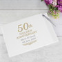 Personalised  Anniversary Guest Book & Pen - Silver - Ruby - Golden
