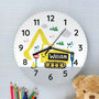 Personalised Digger Wooden Clock