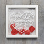 Personalised Anniversary Frame - Happy Heart