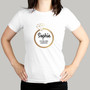 Personalised Gold Bling Ring Hen Party T-Shirt - White Medium