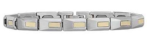 Gents SS/18k  Player's Bracelet