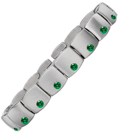 Gent's Titanium with Emeralds