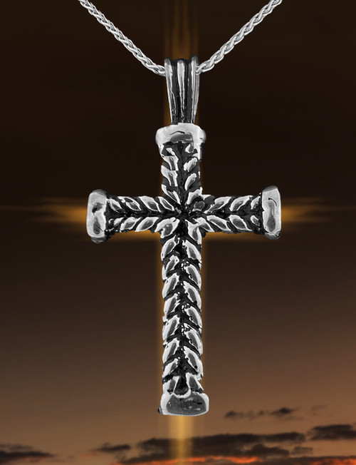 JS Crux Immissa of .925 Antiqued Sterling Silver